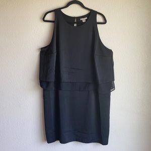 H&M Open Back Layered Dress Black Size 20